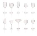 different kind of Wine Glasses - vector icon set