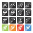 Weather and nature icons - vector icon set