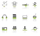 mobile phone  performance icons - vector con set