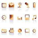 mobile phone icon performance - vector icon set