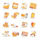 16 Detailed Internet Icons - vector icon set